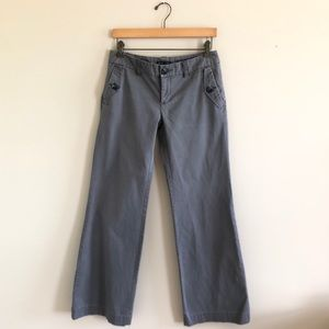 Gap Factory Hip Sling Fit wide leg gray trousers